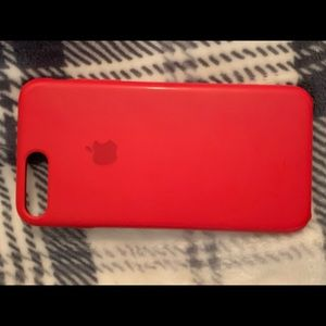 Red Apple Silicon iPhone 7/8 PLUS Phone Case